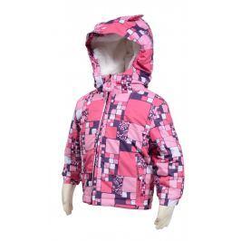 Zimná bunda s umelou kožušinkou - ružová 92 cm