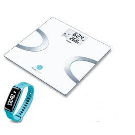 Osobní váha Beurer BF 710BT + fitness náramek AS 81 turqois