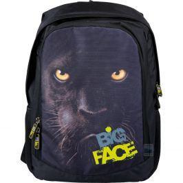 Školní batoh Big Face Panter, černý
