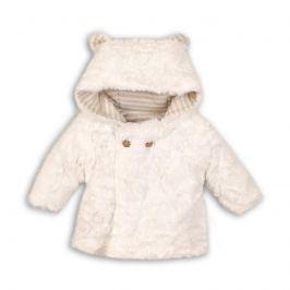 Dívčí chlupatý kabátek Ele - bílý 56 cm