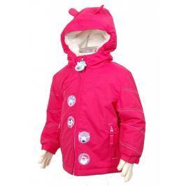 Dívčí zimní bunda Pidilidi, se zvířátky,  růžová, 86