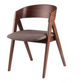 Sada 2 hnědých jídelních židlí s?mcasa Rina