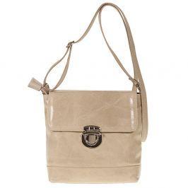 Béžová kožená kabelka Giulia Bags Dulcibella