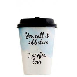 Sada 12 papírových kelímků s víčkem House Doctor Coffee