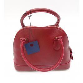 Červená kožená kabelka Giorgio Costa Livorna