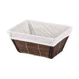 Bambusový košík Wenko Bamboo, hnědý