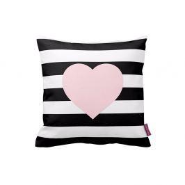 Černobílý polštář Homemania Stripes Pink, 43x43 cm
