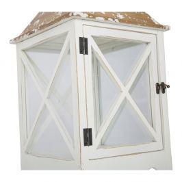 Sada 2 bílých luceren s konstrukcí z jedlového dřeva Mauro Ferretti Hut