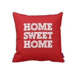 Červenobílý polštář Home Red, 43 x 43 cm