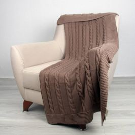 Bavlněná deka Homemania Ciana, hnědá, 170 x 130 cm