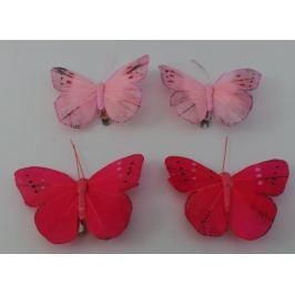 Dekorační motýl, červený