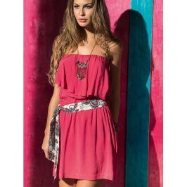 Letní šaty bez ramínek PHAX korálově červené - XL