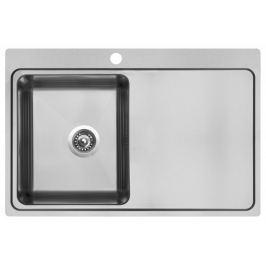 Nerezový dřez Sinks Block 780 V, kartáčovaný
