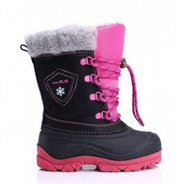 Dívčí sněhule D.D.step, černo/růžové