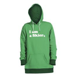 Dámská mikina Line I Am a Skier, zelená