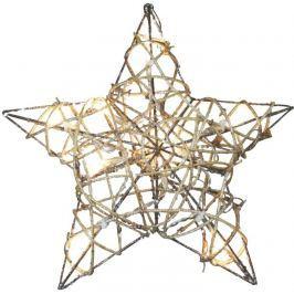 10LED XMAS RATTAN STAR IP20 WW