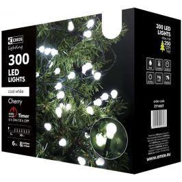 300 LED vánoční řetěz - kuličky, 30m, studená bílá,časovač