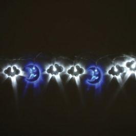 Světelný řetěz Think Gadgets, měsíc a mráčky