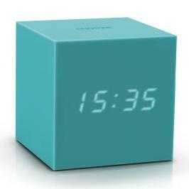 Gingko Tyrkysový LED budík Gingko Gravitry Cube