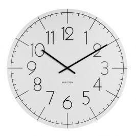 Hodiny Karlsson Present Time Blade Numbers XL, bílé
