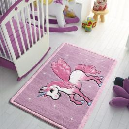 Dětský koberec Pony, 100 x 150 cm, růžový