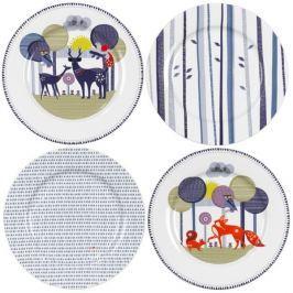 Sada talířů Folklore, keramická