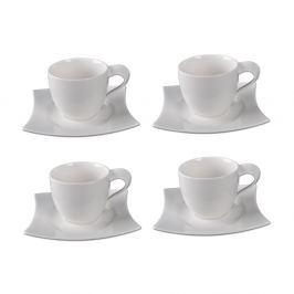 Sola Sada 4 porcelánových šálků s podšálky Sola Sandra, 250 ml