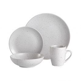 16dílný bílý kameninový jídelní servis Ladelle Speckle