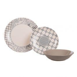 Sada talířů Amelie Beige, keramická