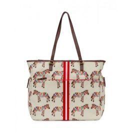 Přebalovací taška Pink Lining Henrietta Tote, zebry