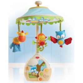 Hudební kolotoč Tiny Love s lampičkou a projekcí na strop