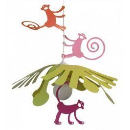 Dětská lampa R and M Coudert Opičky, růžová