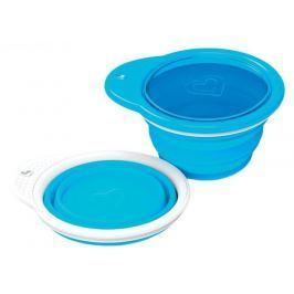 Cestovní skládací miska Munchkin, modrá