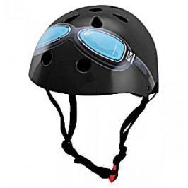 Kiddimoto Cyklistická helma Black Goggle, velikost M