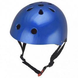 Kiddimoto Cyklistická helma Mettalic Blue, velikost S