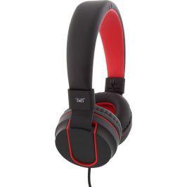 Sluchátka T-nB CSUNIT skládací s mikrofonem, černo-červená