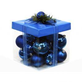Sada 18 modrých vánočních ozdob Ixia Decor