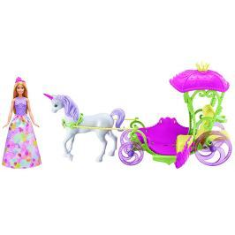 Panenka Mattel Barbie Kočár sladké království