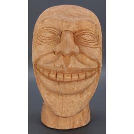 Dekorativní soška Testa natural wood, hlava Doplňky a dekorace