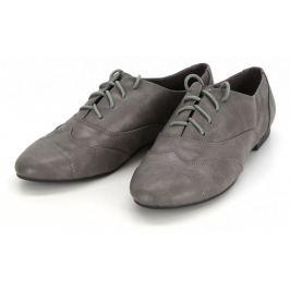 Dámské kožené mokasíny Zapato, šedé, 38