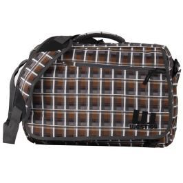 Westige Snow Laptop Bag Brown/Grey Plaid