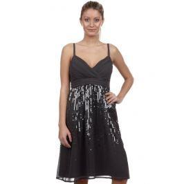 Dámské šaty na ramínka s.Oliver, šifónové, šedé