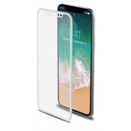 Celly 3D pro Apple iPhone X - bílé (3DGLASS900WH)