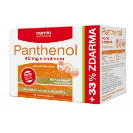 Cemio Panthenol 40mg s biotinem cps.60+20