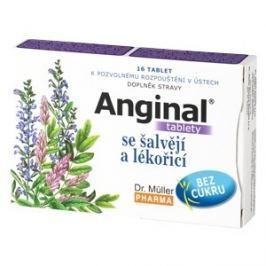 Anginal tablety se šalvějí+lékořicí tbl.16