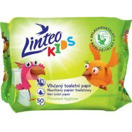 Vlhčený toaletní papír LINTEO KIDS splachovatelný 50ks sáček