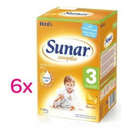 Sunar complex 3 banán 6 x 600g - výhodné balení