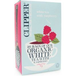 Čaj Clipper organic white tea + Raspberry 25x2g