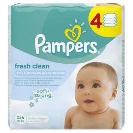 Pampers Fresh Clean vlhčené ubrousky 4 x 64 ks