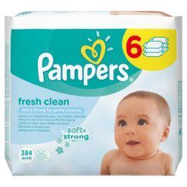 Pampers Fresh Clean dětské čistící ubrousky 6 x 64 ks
